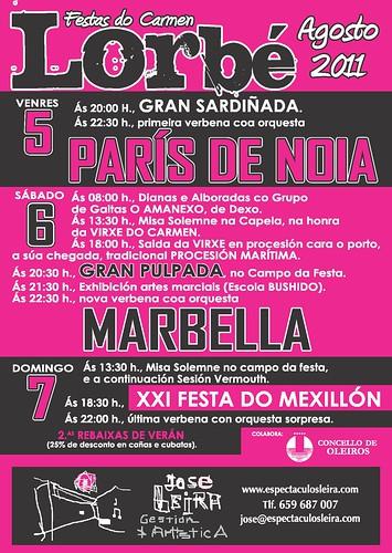Oleiros 2011 - Festas do Carme en Lorbé - cartel