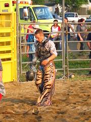 nonqualifying frustration (jdeanphoto) Tags: ohio man men cowboy fair bull cowboyhat bullriding chaps stud rugged studs hilliard cowboyup franklincounty franklincountyfair cowboydown