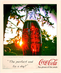 Coca-Cola Australia photograph () Tags: sunset summer glass real polaroid fan photo bottle image drink no beverage picture australia coke pop sugar photograph week soda cocacola hfcs
