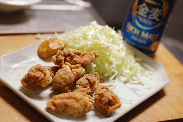 唐揚げをカレー風味で。シンプルにカリッと! #gohan