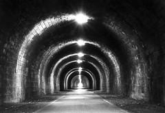 The Tunnel is Innocent (Semi-detached) Tags: park shadow white black architecture scotland edinburgh long exposure interior innocent pedestrian tunnel holyrood brightness semidetached