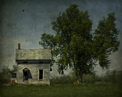 Heat Wave (Rodney Harvey) Tags: texture abandoned farmhouse rural oldhouse kansas viewmaster houseandtree