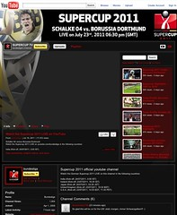 Supercup 2011: FC Schalke 04 vs. Borussia Dortmund (YouTube-Channel)