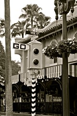 Vine Street (FocalAdrenaline) Tags: vacation blackandwhite contrast canon florida highcontrast disney disneyworld wdw amateur themepark noire filmnoire hollywoodstudios t1i canont1i