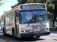 47 on Van Ness (jayayess1190) Tags: sanfrancisco california city urban publictransportation neighborhood muni vehicle commuter passenger masstransit neoplanan440 cumminsism