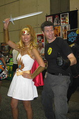 She-Ra and Captain Hammer cosplay at Comic-Con 2011