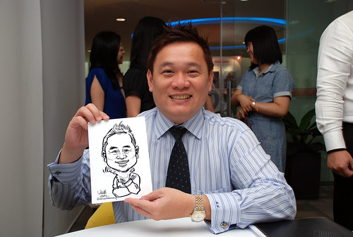 Caricature live sketching for Ricoh Roadshow - 19