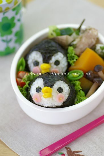 8 Luckysundae Flickr Penguin Bento