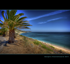 Salema beach (Descended from Ding the Devil) Tags: praia beach portugal algarve salema sigma1020 pseudohdr singleraw hdrextremes canon40d hdraddicted