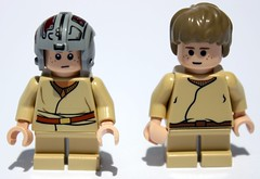 Old and New Young Anakin faces