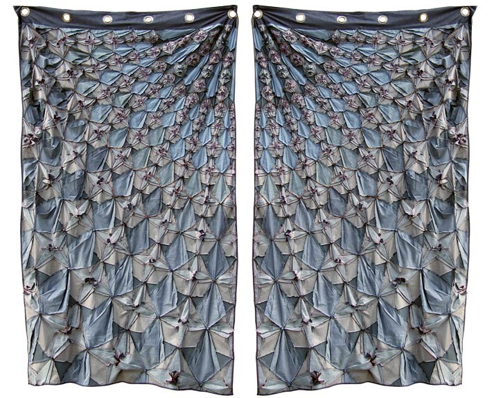Julie Floersch. indigo curtains (back)