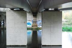 (d.o.photo) Tags: bridge light reflection composition graffiti photo paint do shoot photographer dom symmetry spray harris
