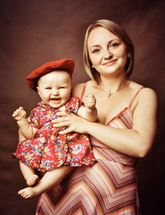E&W (huragankatrina) Tags: family portrait woman baby love girl smile kids children 50mm kid nikon mother ewa weronika chil d90