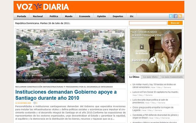 Nuevo periodico Voz Diaria de Santiago