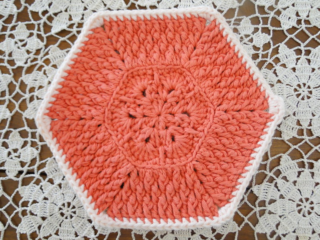 tangerine dishcloth