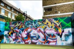 Lovepusher - Stockwell July 2011 (303db) Tags: uk england london art south can spray halloffame lambeth hof stockwellgraffiti