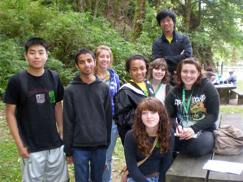 Portland, Ore., June 10, 2011 -- Forests Inside Out! Youth mentors for the Forests Inside Out! program in Portland, Ore.  Economic recovery funding allowed these young people help approximately 350 grade schoolers from underrepresented communities to connect with nature in two-day workshops in August 2010.
