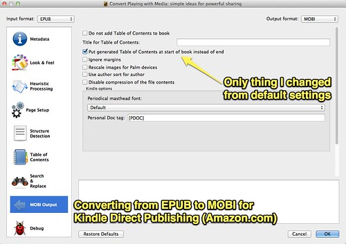 Converting from EPUB to Kindle MOBI