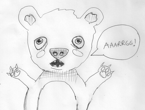 Aaaarg Teddy by Whiskers and Tea