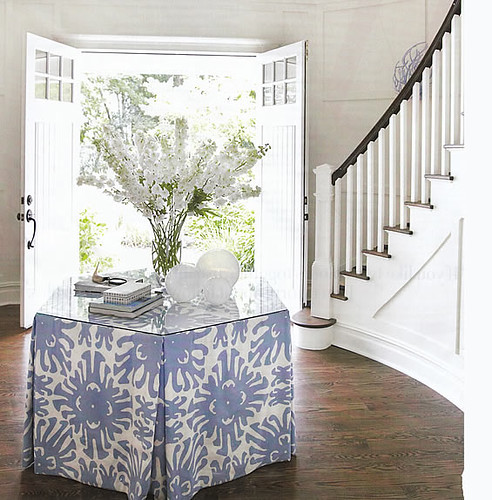 Amanda Nisbet Skirted Foyer Table