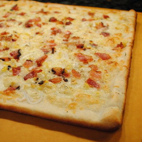 Sweet Corn and Bacon Pizza