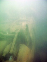 Powmill Quarry: Upturned car (gordon.milligan) Tags: uk water scotland junk underwater fife scuba diving bsac quarry dsac powmill