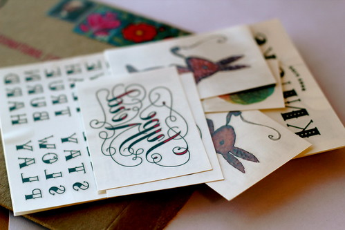 Thursday: tattly fake tattoos!