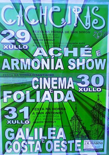 Teo 2011 - Festas de San Simón en Cacheiras - cartel