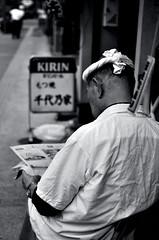 take a rest (maaco) Tags: blackandwhite bw monochrome 35mm tokyo nikon asakusa nikkor stroll poeple capturenx d7000 浅草カメラ部