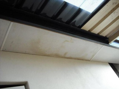 Kingsley Home Inspection - Water Stained Eaves