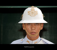 Stranger #5 - Thai Grand Palace guard ([ Michel ]) Tags: bangkok guard thaliand 2011 thaigrandpalace canon24105mm canon50d 100strangers michelw|photography