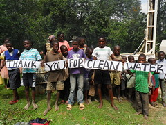 shamakhubu community members on ground thanking the water project