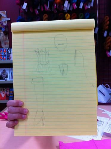 Flo designs some Dom stuff...