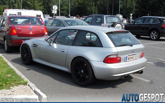 S54B32 M Coupe | Titanium Silver | Imola/Black | Color Matched Door Handles and Hatch Spoiler