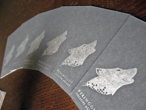 Pixiwooh Letterpress Business Card