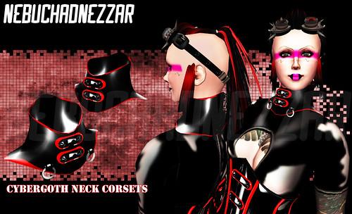NDN - Cybergoth Neck Corsets