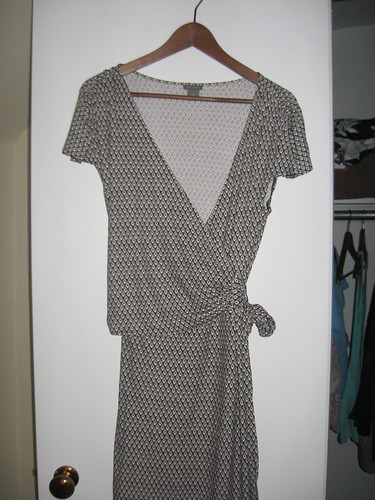Ann Taylor brown/black wrap dress