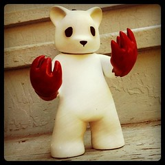 """Possessed"" by Luke Chueh (liquidnight) Tags: bear art square toys blood vinyl collection squareformat figure normal bloody paws collectibles claws lukechueh possessed iphoneography instagramapp uploaded:by=instagram"