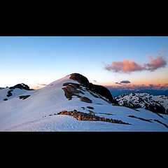 Camp Sunset (Christopher J. Morley) Tags: pink sunset camp mountain snow beautiful clouds bc walk peak hike cypress overnight stargazing meteorwatching betweensquamishwhistler