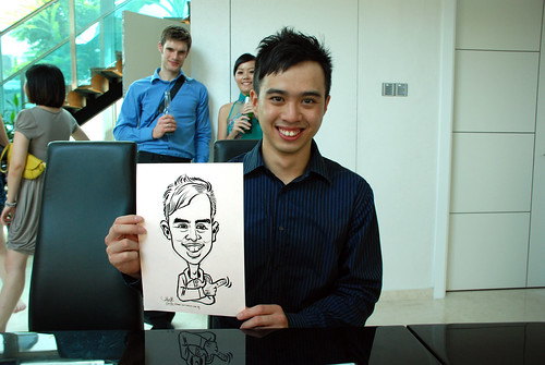 caricature live sketching for wedding solemnisation - 7