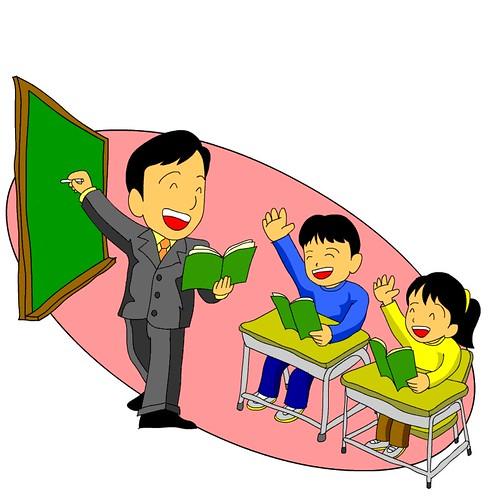 Dibujos de niños estudiando en la escuela - Imagui