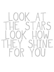 look at the stars printable_grey