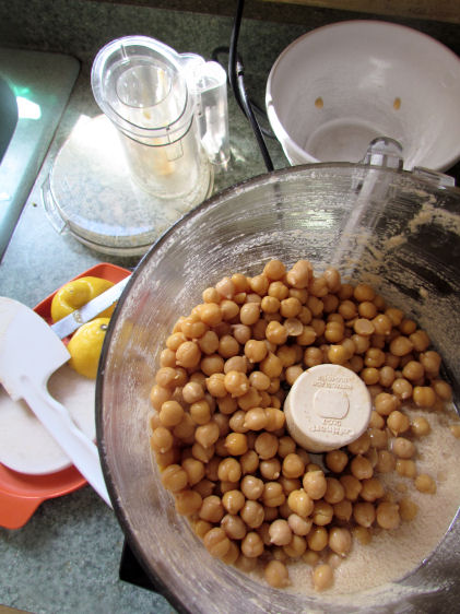 THEN add the beans to your food processor