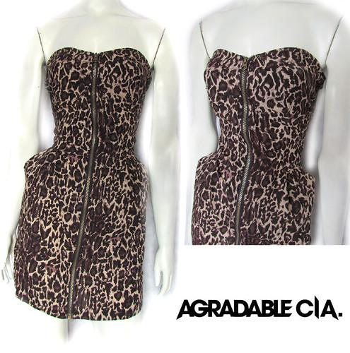 vestido leopardo zipper, vestido animal print, ropa de diseño independiente, venta al por mayor de ropa de diseño independiente, ropa de palermo, ropa de diseño 2011, ropa verano, vestidos de verano