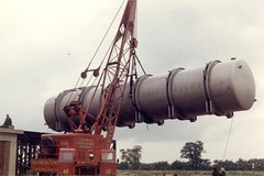 Being Evaluated (Jibup) Tags: red crane cranes hire lifting lorain mc824 mc875 jackhardwick