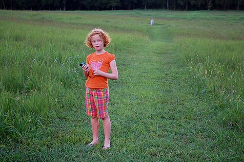 Sarah in field