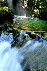 Emerald Pool in the Black Cavern (Kirk DuBose) Tags: nature water beauty oregon nikon clear rivers d200 wilderness creeks oldgrowth pristine opalcreek willamettenationalforest ancientforest