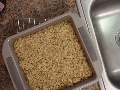 Granola Baked in New Pan