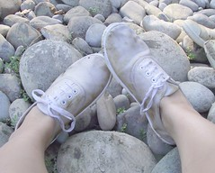 france (ayane thurlow) Tags: shoe pebbles dirtyshoes plimsoll
