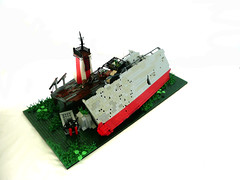 "The Wreck of the ""USS Buccaneer"" (Lego Junkie.) Tags: 3 building ship lego apocalypse collapse win sunk remains wrecked apocalego"
